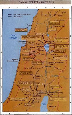 Pentacostal: Peta pelayanan Yesus Kristus